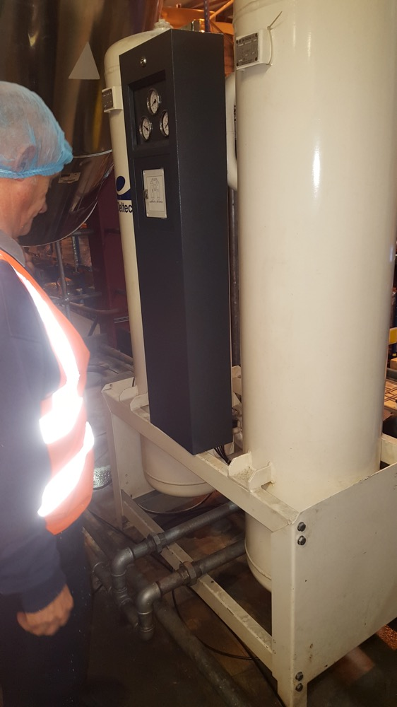 image showing A Recent compressor installation in the Thames Valley